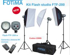 - - 0292011 Kit flash da studio 3x200 FTF-200 - Fotima